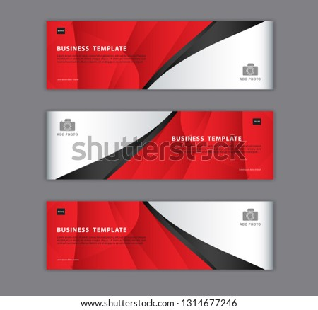 Red banner design template vector illustration, Geometric, polygonal Abstract background, texture, advertisement layout. web page. header for website. Graphic for billboard, gift voucher, card.  #1314677246