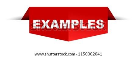 red banner examples ストックフォト ©