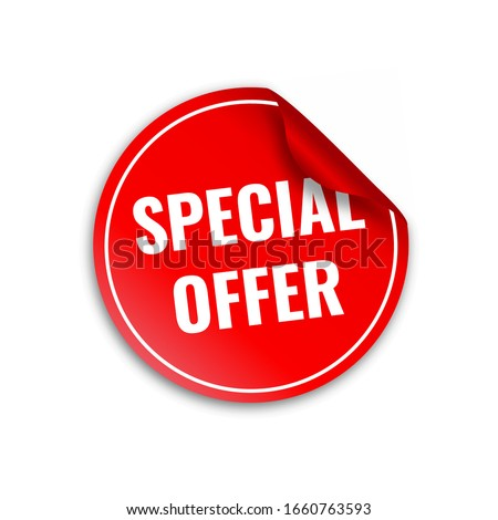red banner special offer vector