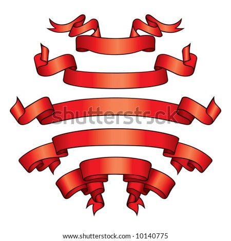 Red Banners (vector). In the gallery also available XXL jpeg image made from this vector