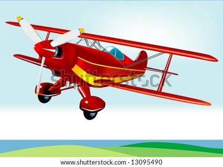 Red Baron Acrobatic Aeroplane (VECTOR)