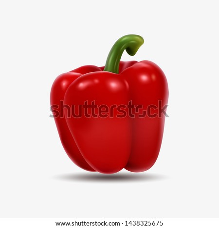 red bell pepper isolated on