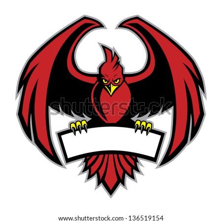 red bird mascot