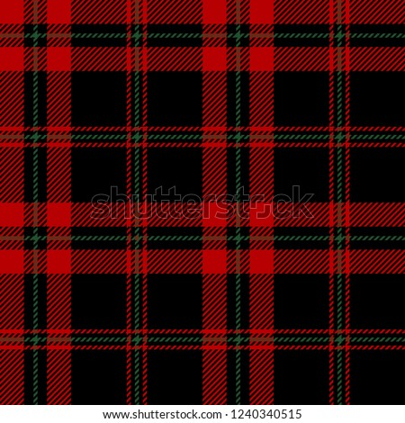 Red,black and green tartan plaid Scottish seamless pattern.Christmas and New year concept.Vector illustration.Texture from tartan, plaid, tablecloths, clothes, shirts, dresses, paper, bedding,blanket.