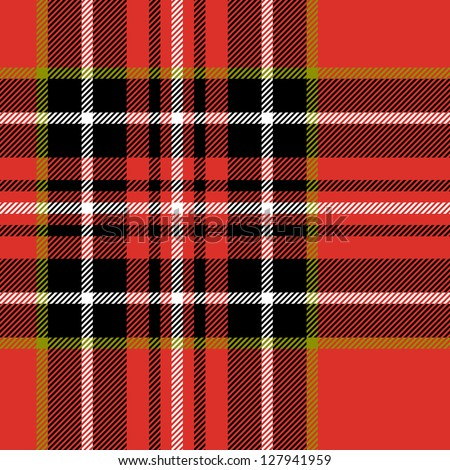 red black and white tartan