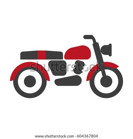 red black bike graphic
