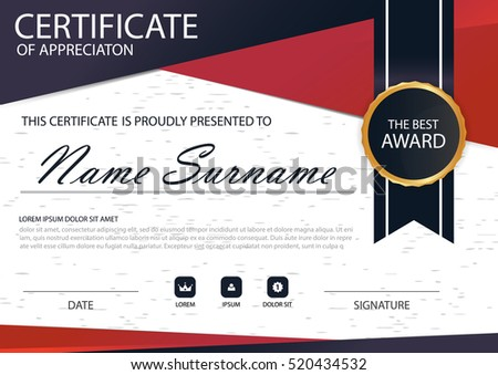 Black award certificate design template download free vector art red black elegance vertical certificate with vector illustration white frame certificate template with clean and yelopaper Image collections