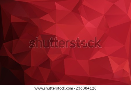Red Black Polygonal Mosaic Background Vector illustration Creative Business Design Templates
