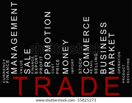 red-black trade text barcode, vector