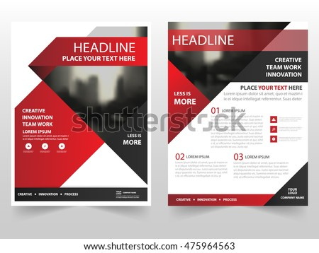 Red Brochure Layout Template For Business Presentation Download