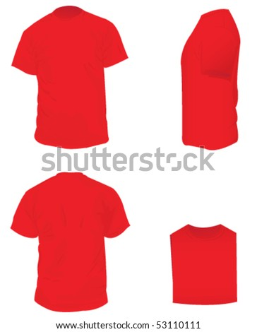 Red  Blank T Shirt
