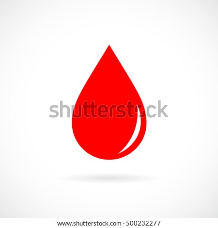 red blood drop icon red blood