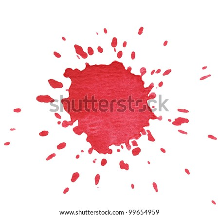red blot isolated on white.vector illustration