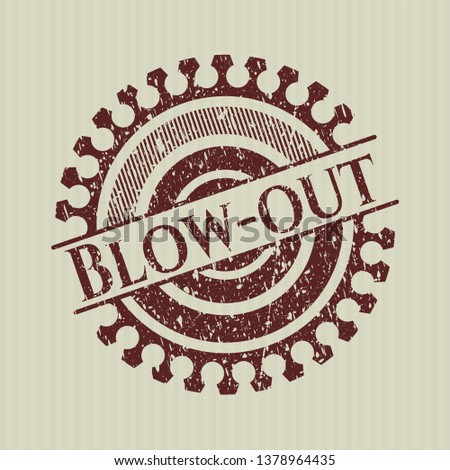 Red Blow-out distress rubber grunge texture stamp