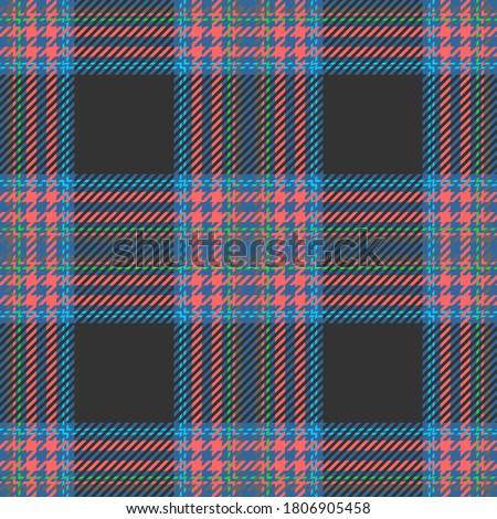 red blue and dark gray tartan