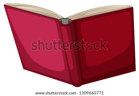red book object on white