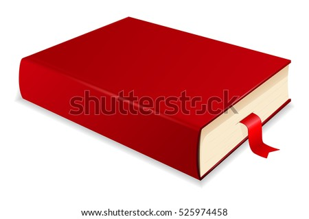 red book with bookmark vector