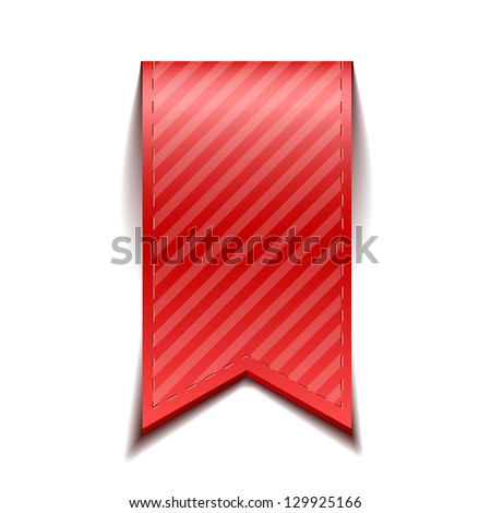 Red bookmarks isolated on white background