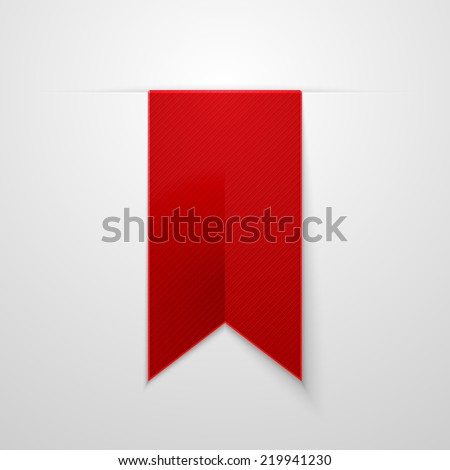 Red bookmarks isolated on white background. Vector illustration