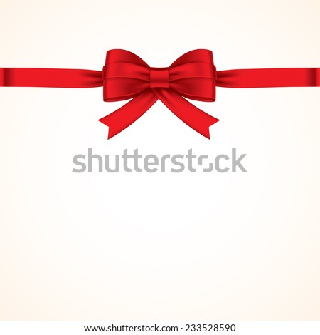 red bows with red ribbon