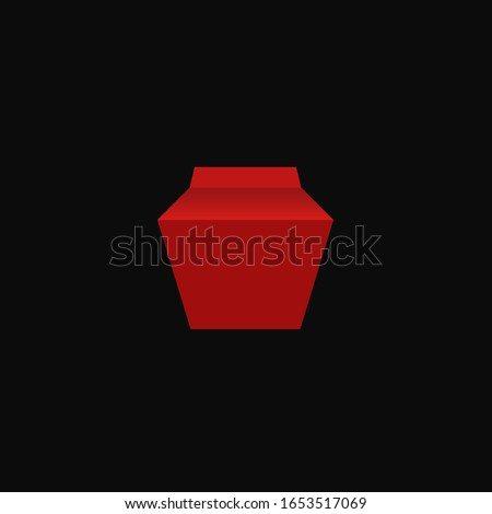 Red box vector image for web and design