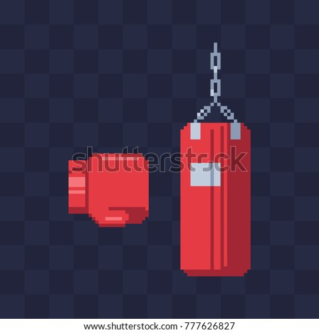 red boxing glove and punching