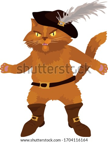 red brave puss in boots