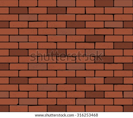 red brick wall seamless vector