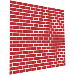 Red brickwall, brick wall. Masonry, stonework, building and architecture concepts icon, graphics