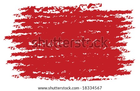 red brush texture grunge style in vector mode