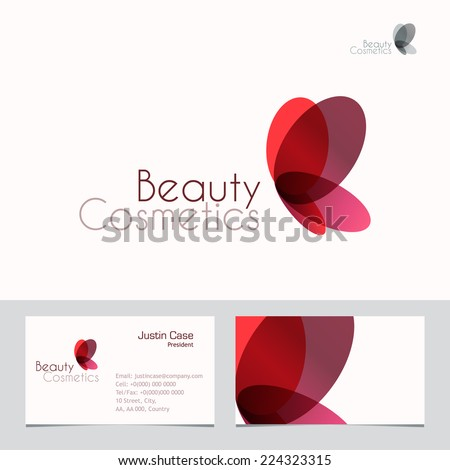 red butterfly vector sign
