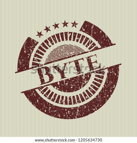 Red Byte distressed rubber stamp