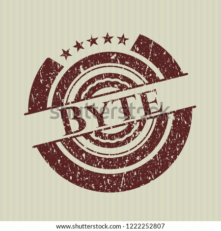 Red Byte distressed rubber stamp with grunge texture