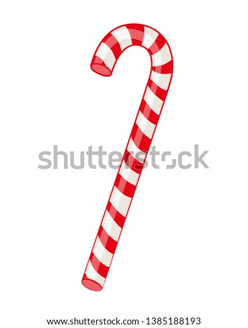 Red candy sugar cute vector illustration
