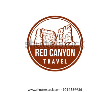 red canyon travel illustration