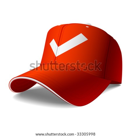 Red cap. Vector. Insert your logo or graphics.