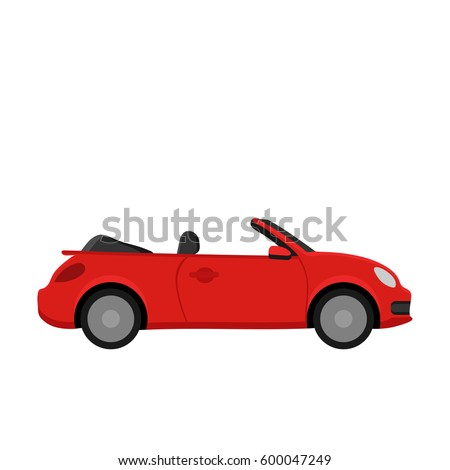 red car flat design
