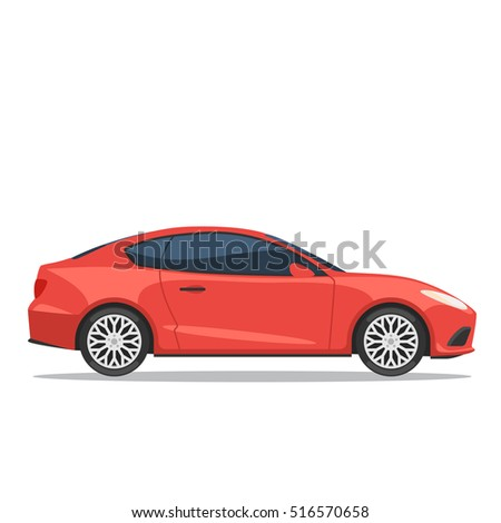 red car side view vector