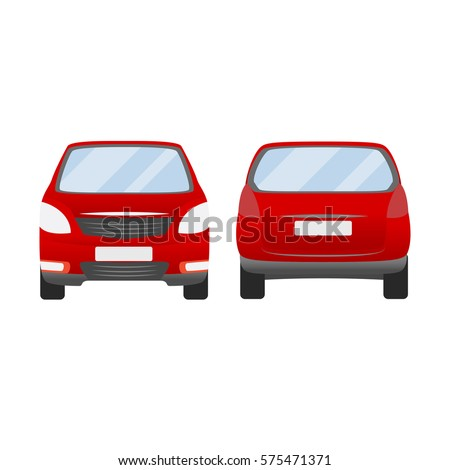 red car vector template