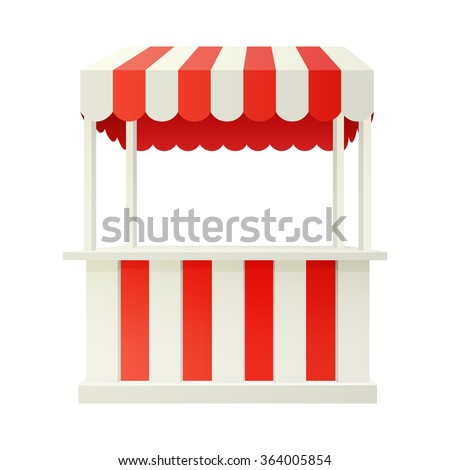 red carnival fair booth