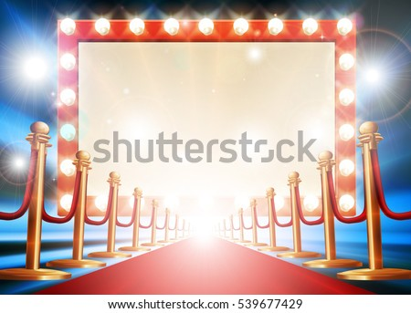 red carpet background with