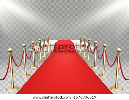 red carpet event with three