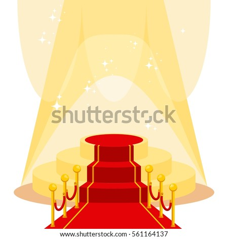 red carpet for holiday greeting