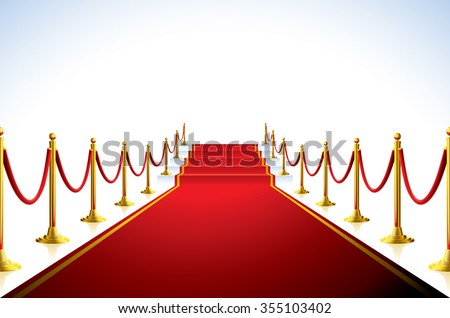 Red carpet with stairs in the end.