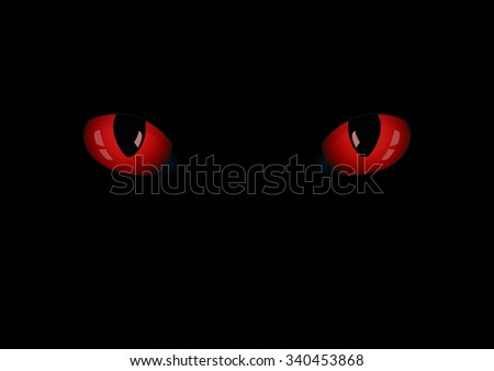 red cat's eyes on the dark eps
