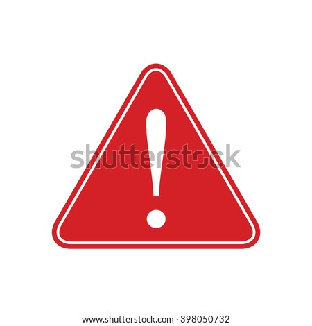 red caution sign vector