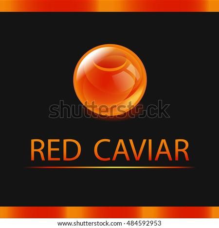 red caviar label shiny orange