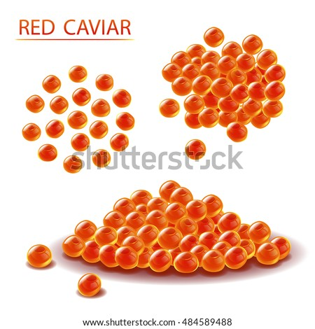 red caviar vector illustration