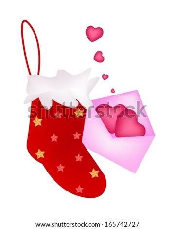 red checked christmas stocking