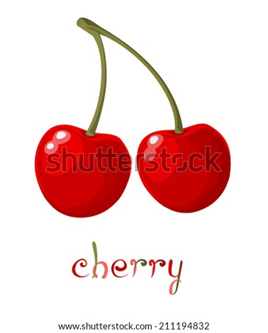 red cherry illustration of